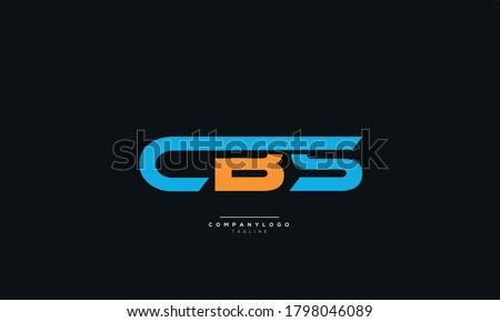 CBS Letter Business Logo Design Alphabet Icon Vector Symbol