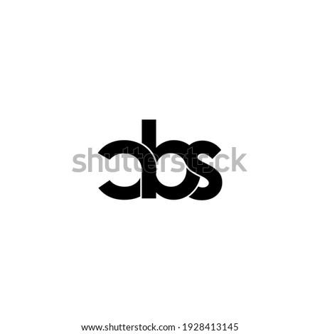 cbs letter original monogram logo design