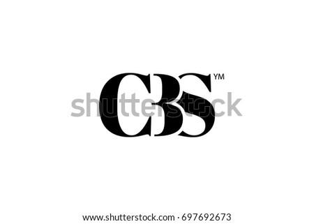CBS Logo Branding Letter. Vector graphic design. Useful as app icon, alphabet combination, clip-art, and etc.