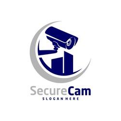 CCTV Camera With City Logo Design Vector Template, Logo Concept, Symbol, Icon