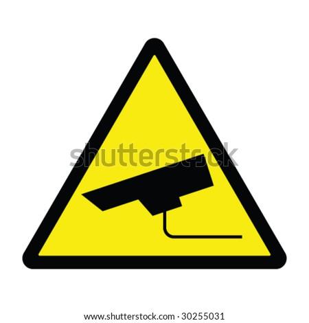 CCTV Hazard Sign
