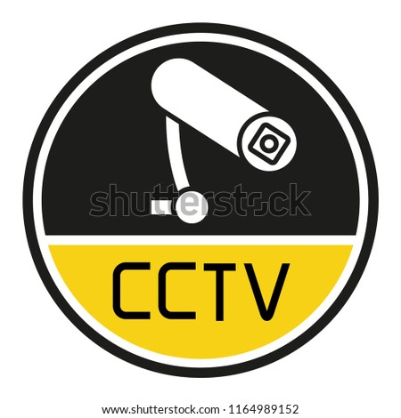 CCTV label sign