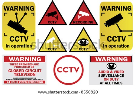 CCTV signs and warnings - check my gallery for other CCTV pack or JPEG file directly
