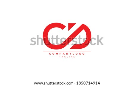 CD C AND D  Abstract initial monogram letter alphabet logo design Stock photo ©