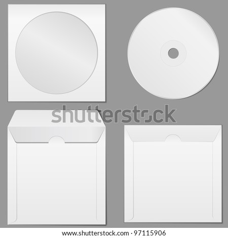 CD Case, vector eps10 illustration - stock vector