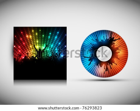 CD Cover Design Template - Party. Vector Illustration