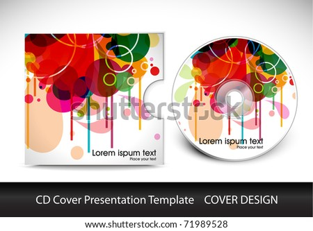 colorful cd cover design download free vector art stock graphics