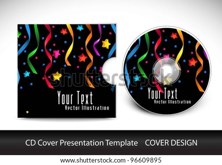 cd cover presentation design template , editable vector illustration