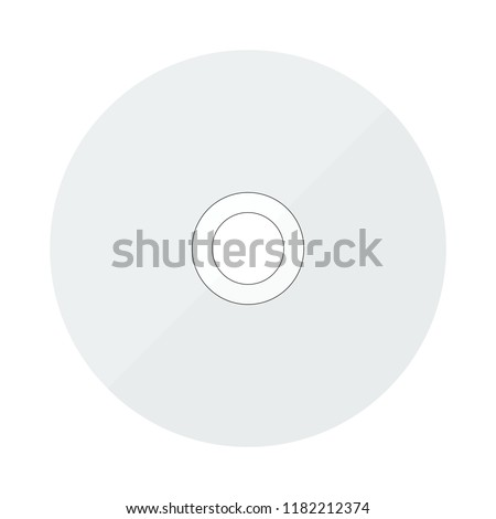 cd disc icon in flat style isolated vector illustration on white transparent background