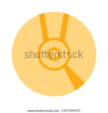 CD disk vector icon. Compact disc filled flat sign for mobile concept and web design. CD, DVD drive glyph icon. Symbol, logo illustration. Pixel perfect vector graphics - Vector