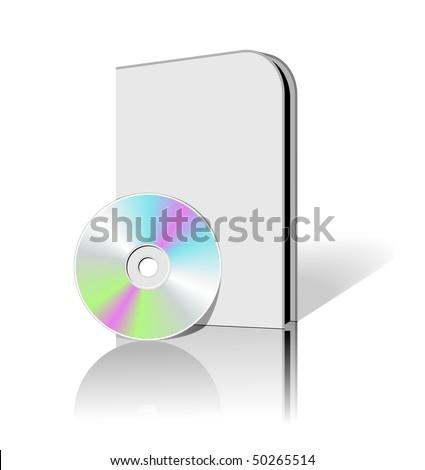 CD DVD box. Blank 3d boxes. Vector design element.