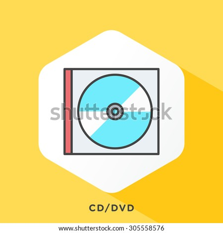cd   dvd box icon with dark