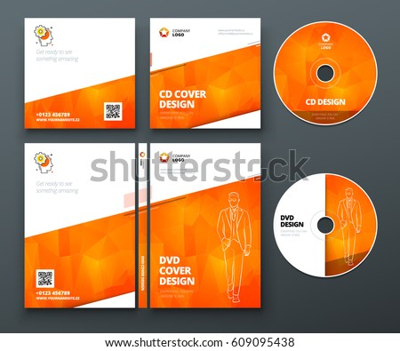 Dvd disc download free vector art stock graphics images cd envelope dvd case design orange corporate business template for cd envelope and dvd maxwellsz