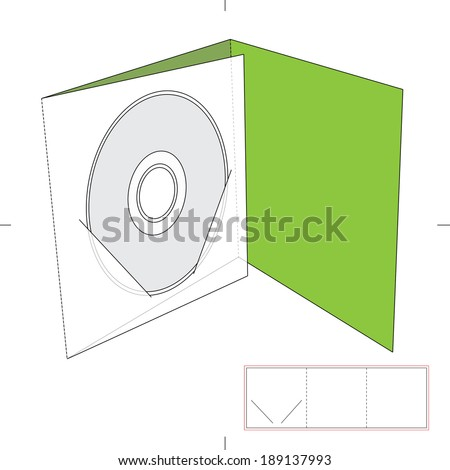 CD Envelope with Blueprint Layout