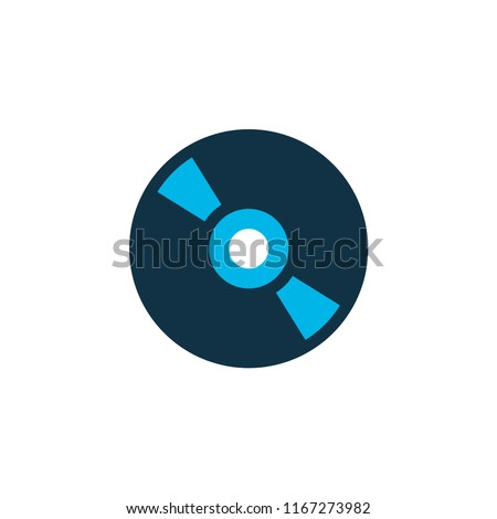Cd icon colored symbol. Premium quality isolated compact disc element in trendy style.