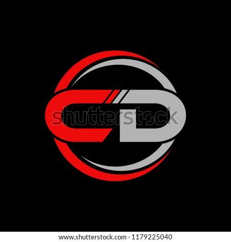CD initial letters elegant logo, Modern Logo Design