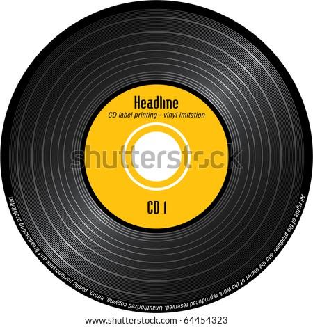 CD label printing - imitation vinyl Stock fotó ©
