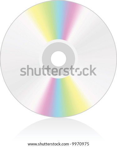 CD medium - vector illustration