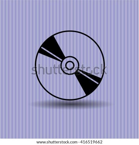 CD or DVD disc icon vector symbol flat eps jpg app