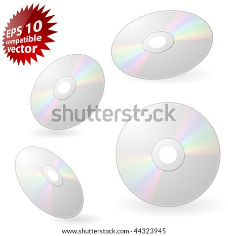 CD or DVD Eps10 compatible vector