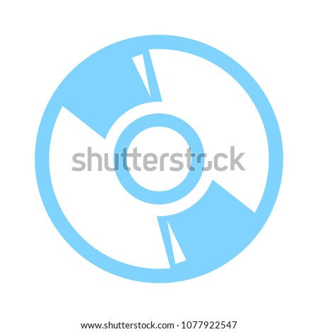 CD or DVD icon. Compact disc sign