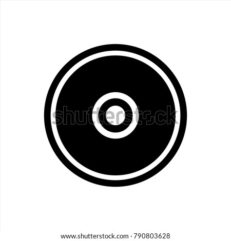 CD or DVD icon in trendy flat style isolated on background. CD or DVD icon page symbol for your web site design Clock icon logo, app, UI. CD or DVD icon Vector illustration, EPS10.