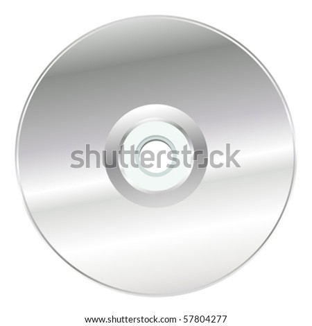 CD or DVD over white square background