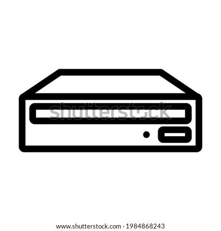 CD-ROM Icon. Editable Bold Outline Design. Vector Illustration. Foto stock ©