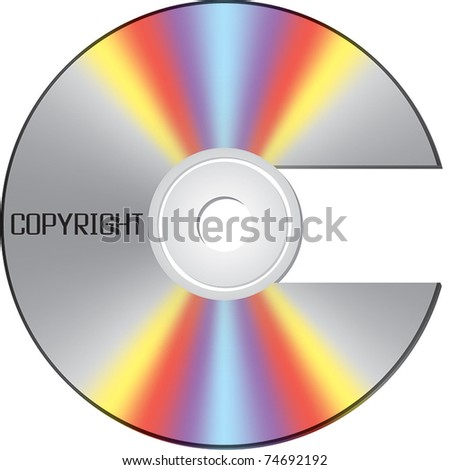 CD shaped as copyright sign