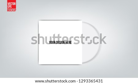 Cd With Cover Template : Vector Illustration - Vector