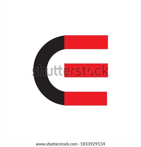 CE Logo Letter Vector Illustration Zdjęcia stock ©
