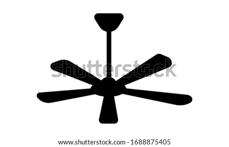 Ceiling fan, cooler, fan,fan bracket, mini fan, wall fan free vector icon