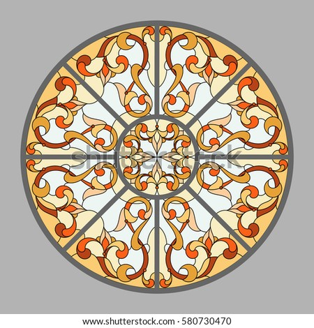 ceiling   stained glass vector
