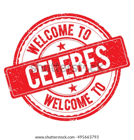 celebes welcome to stamp sign