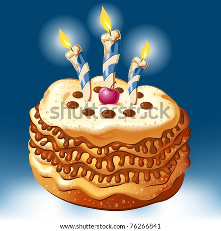 celebrate birthday cake with candles