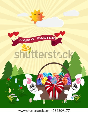 celebrate easter day with bunny