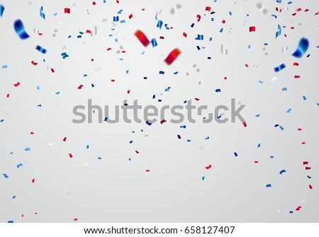 stock-vector-celebration-background-template-with-confetti-and-red-and-blue-ribbons