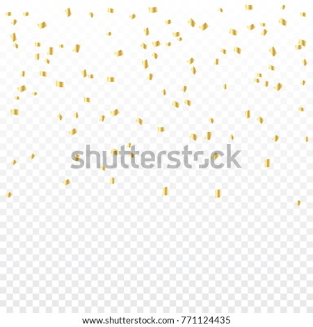 Celebration Background With Many Falling Tiny Golden Confetti. Vector #771124435