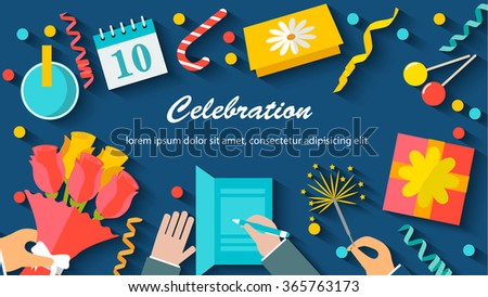 celebration background with