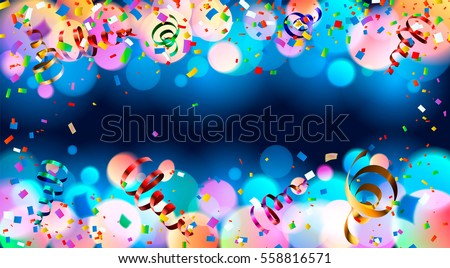 stock-vector-celebration-dark-blue-holiday-background-with-colorful-shining-bokeh-and-serpentine-eps