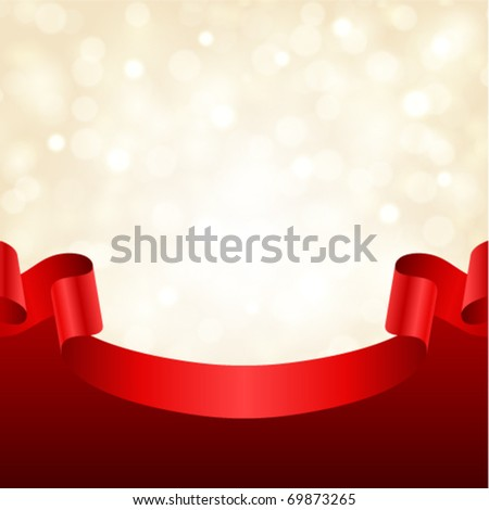 Celebration light vector background with ribbon