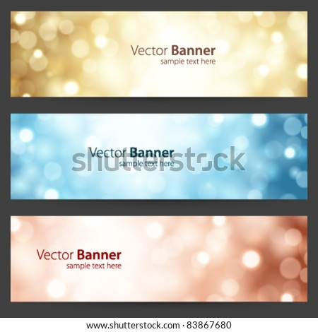 Celebration light vector banner or header set eps 10