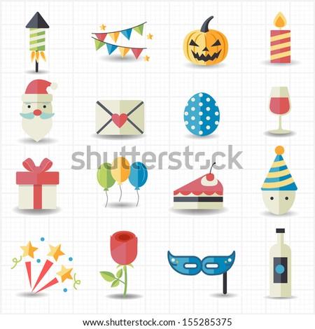 celebration  party icons