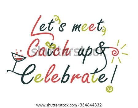 celebration text design