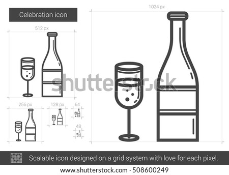 celebration vector line icon