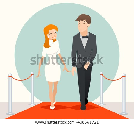celebrities couple walking on a