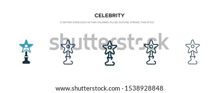 celebrity icon in different