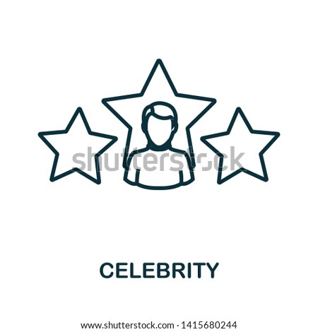 celebrity icon outline style