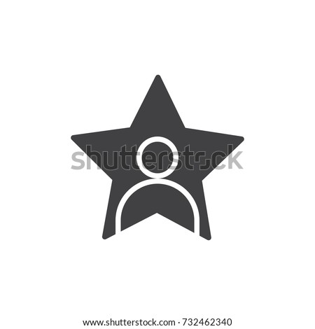 celebrity icon vector  filled