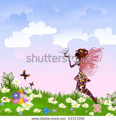 celestial fairy on a flower